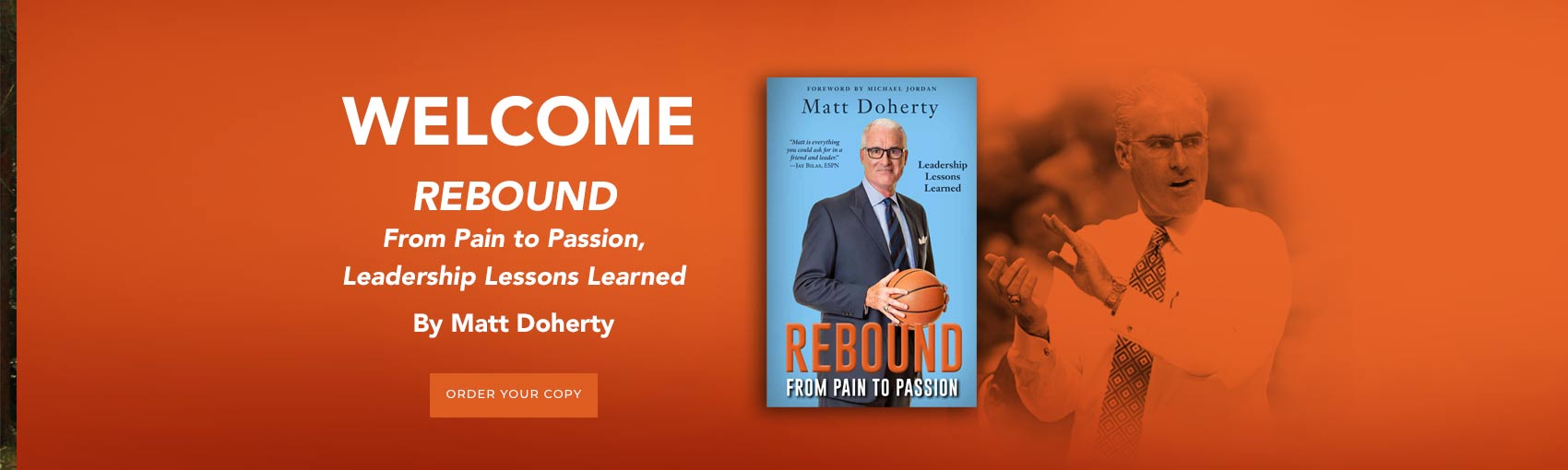 Matt Doherty REBOUND From Pain to Passion book